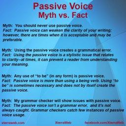 Passive Voice: Myth vs. Fact article by Kelly Hartigan of XterraWeb