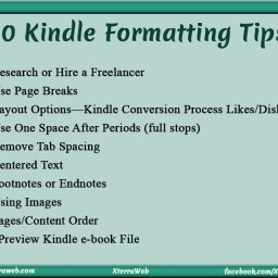 10 Kindle Formatting Tips. Kindle e-book formatting.