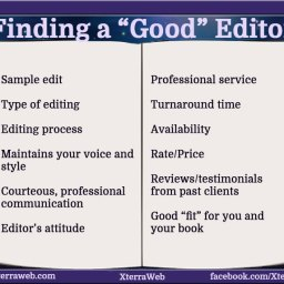 How to find a good editor. 11 things to look at when choosing an editor.