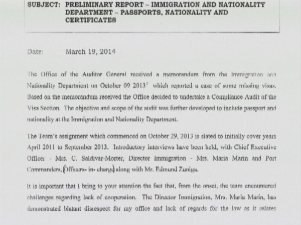 Auditor General Report says Immigration Director ...