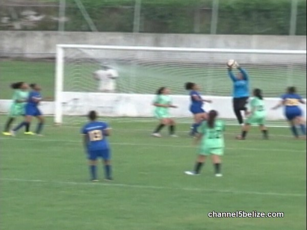 Ladies in Action on the Football Field | Channel5Belize.com