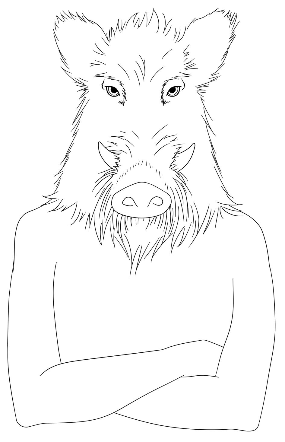 Le Géant des Hauts - dessin d'Annick Paul