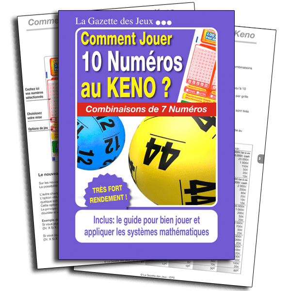système keno 10 numéros pour un jeu à 7