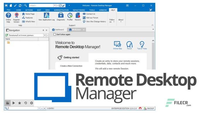 Remote Desktop Manager Enterprise 3.29.0 Crack Free Download 2021