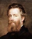 Herman Melville (1819-1891) ecrivain americain vers 1870