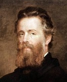 Herman Melville (1819-1891) ecrivain americain vers 1870