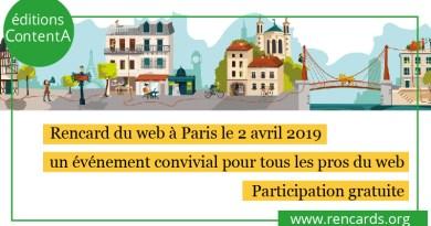 Rencard du web à Paris le 2 avril