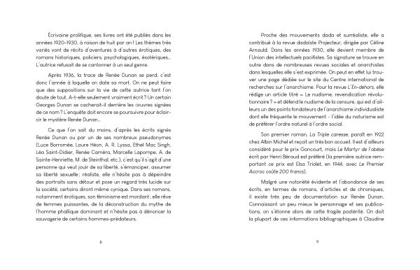 La Culotte en jersey de soie - Renee Dunan - editions Veliplanchistes