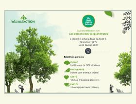 les editions des Veliplanchistes soutiennent les projets de reboisement et de sauvegarde de la nature de reforest'Action