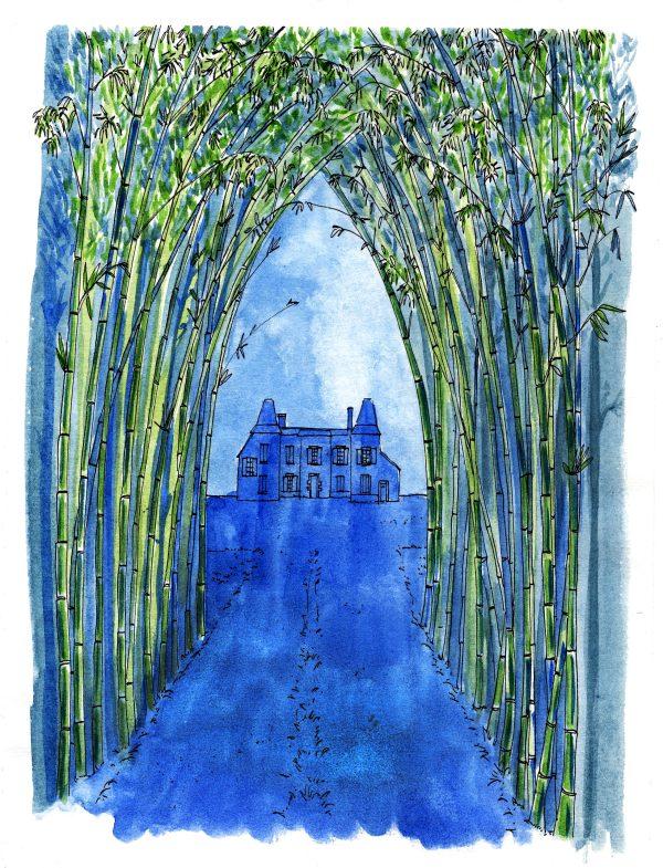 Allée de bambous de Gaëlle Privat pour L'Herbier de Sabine Sicaud ed. Veliplanchistes 2021
