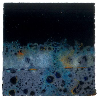 "Carola Bell ""Sleep"" hand colored monotype 5x5 inches"