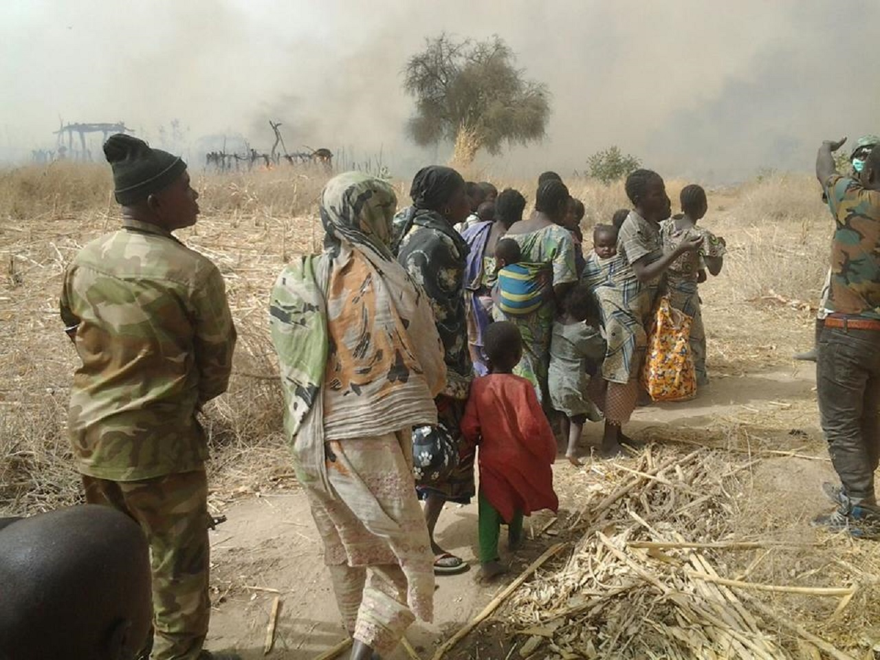 People rescued from Boko Haram's captivity by the troops PHOTO: DHQ