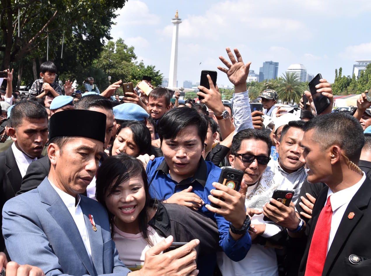 Mayoritas Rakyat Puas Kinerja Jokowi