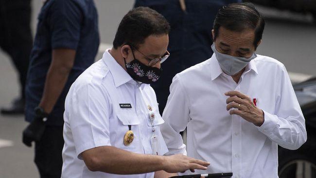 presiden jokowi bersama gubernur dki jakarta anies baswedan