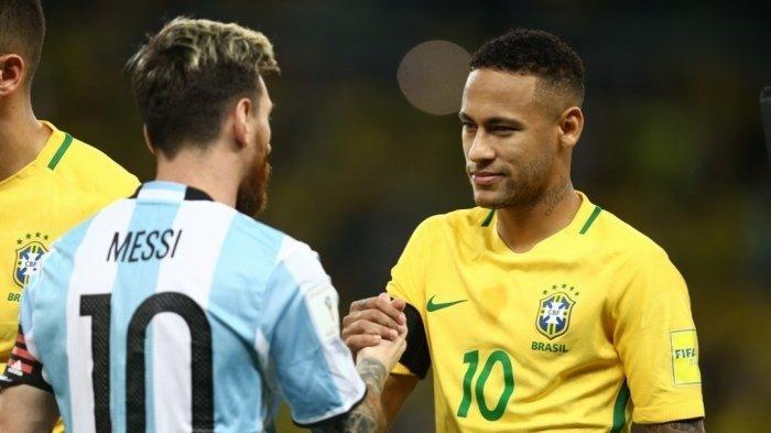 bintang argentina lionel messi akan bertarung dengan bintang brazil neymer di laga final copa amerika 2021 besok mnggu