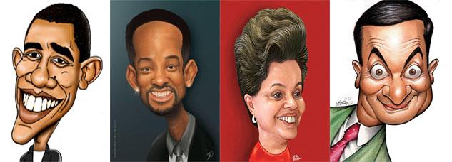caricaturas de pessoas famosas
