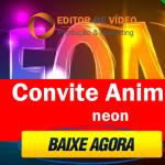 Convite Animado Neon