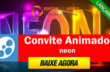 Convite Animado Neon Proshow