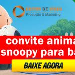 Convite Animado Snoopy