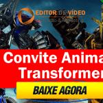 Convite Animado Transformers