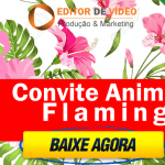 Convite Animado Flamingo