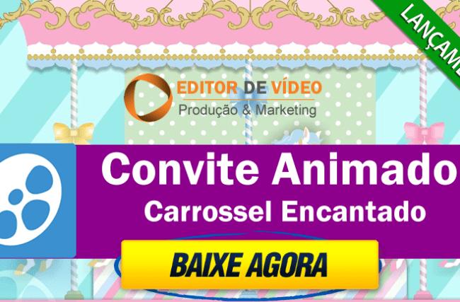 Convite Carrossel Encantado