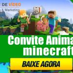 Convite Animado Minecraft para editar