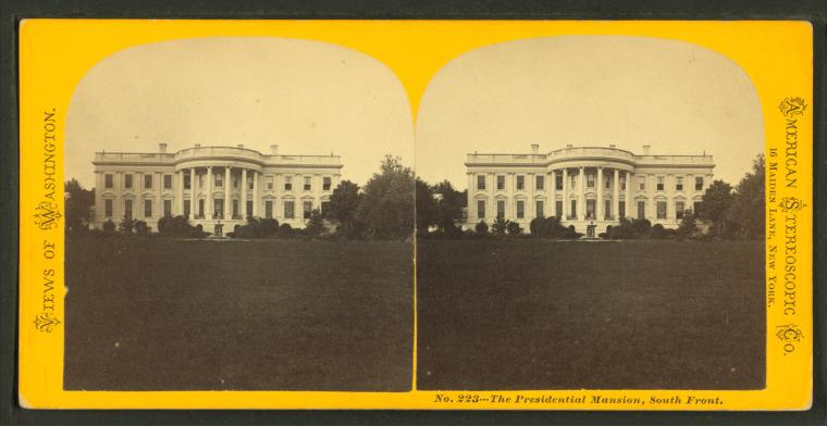 The Presidential Mansion, South Front, 1864–1871