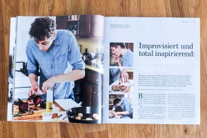 Improvisiert und total inspirierend. Reportage mit einem Koch, der improvisiert.