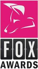Logo der Fox Awards: die Umrisse eines Fuchses auf magenta-farbenem Hintergrund.