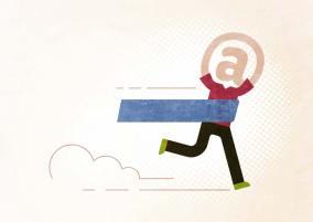 E-Mails finden junge Erwachsene zum Davonlaufen, wie diese Illustration veranschaulicht. Sie kommunizieren lieber per Messenger.