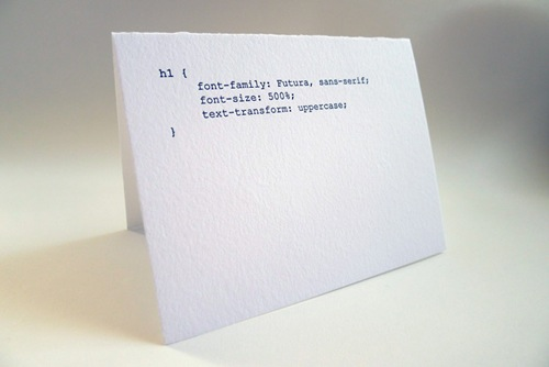 Greeting Cards For The Nerdy Web Developers