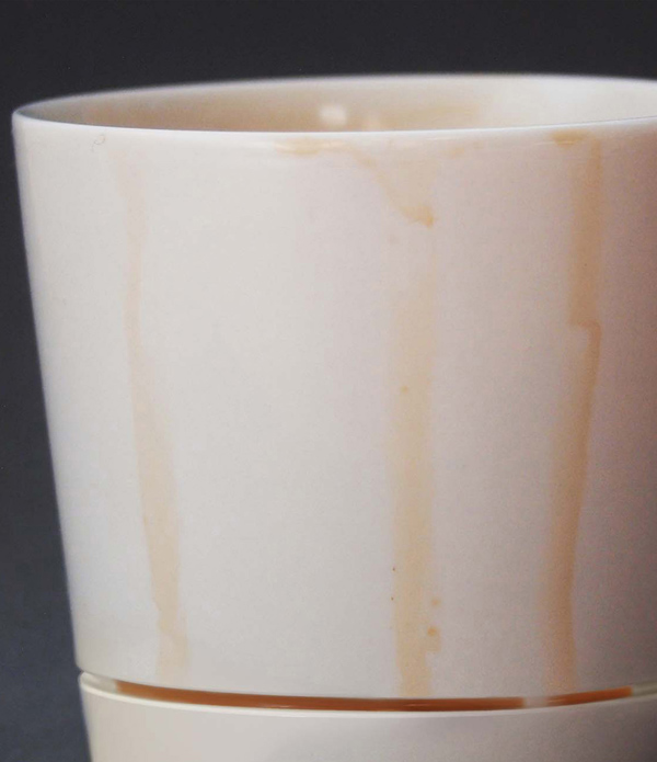 coffee mug that catches drips