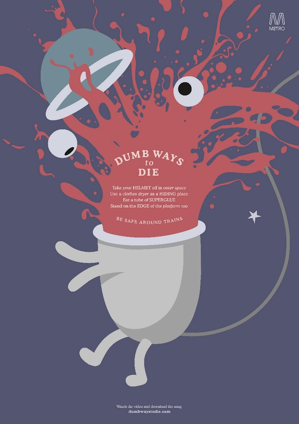 New Print Ads For Dumb Ways To Die Campaign