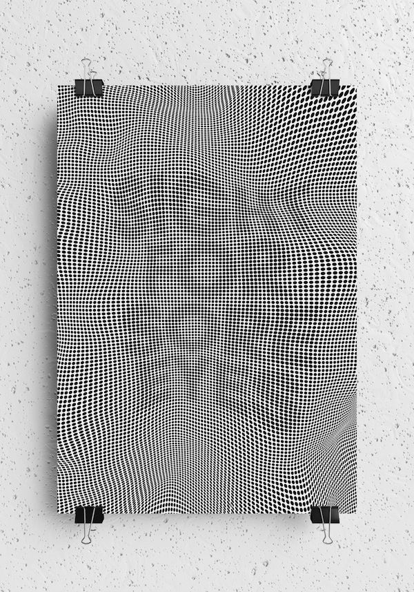 monochromatic pattern posters inspiration now