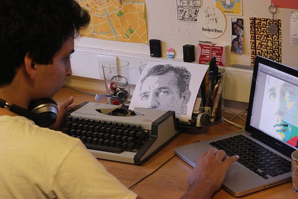 Portraits Created With A Typewriter