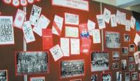A wall of memories...part of Todmorden Gang Show's display at Todmorden Tourist Information Centre