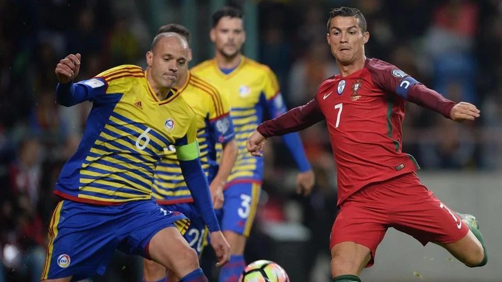 Ronaldo y su primer 'póquer' con Portugal