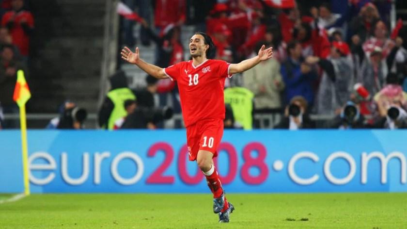 Yakin's goal for Switzerland against Portugal