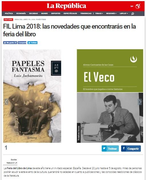 FIL Lima 2018: las novedades que encontrarás en la feria del libro