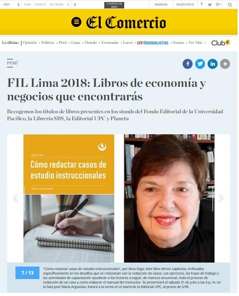FIL Lima 2018: Libros de economía y negocios que encontrarás