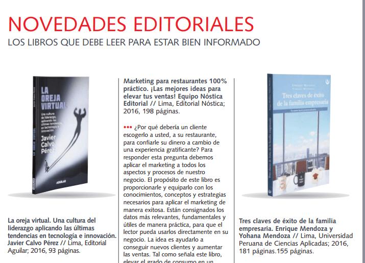 Novedades Editoriales