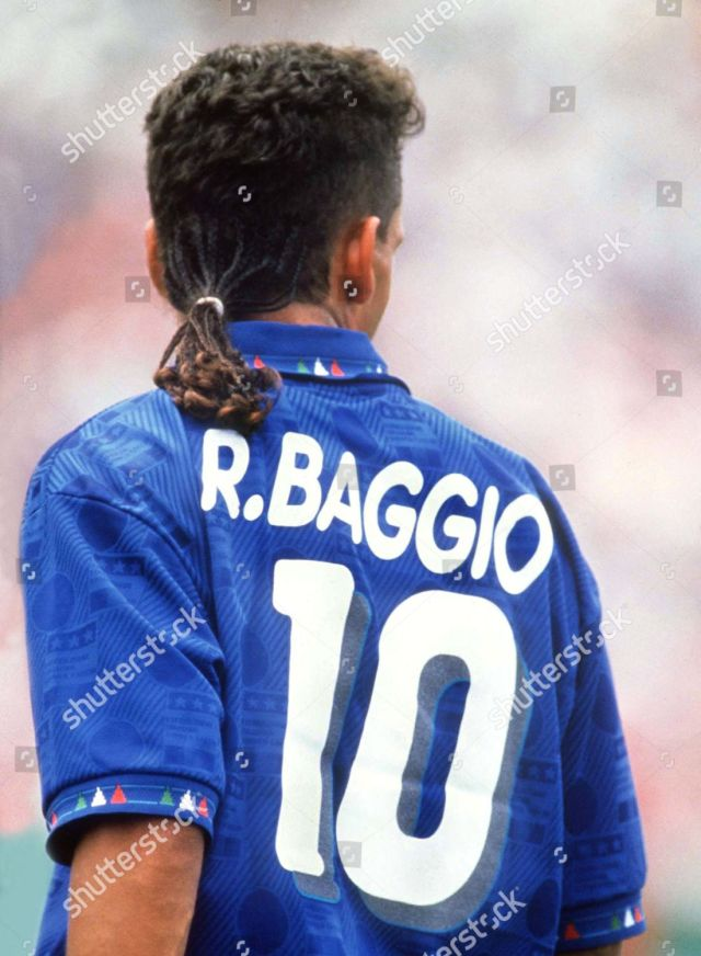 football hair cuts roberto baggio italy his editorial stock