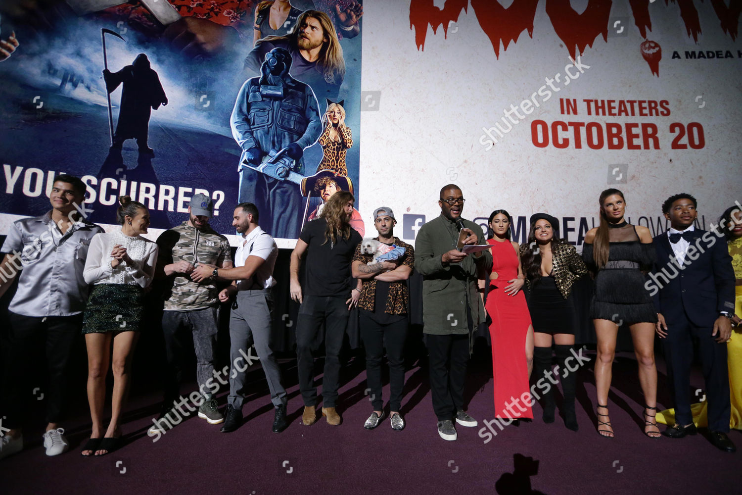 With tyler perry, cassi davis, patrice lovely, yousef erakat. Tyler Perry Writerdirectorproducer Cast Crew Tyler Perrys Editorial Stock Photo Stock Image Shutterstock
