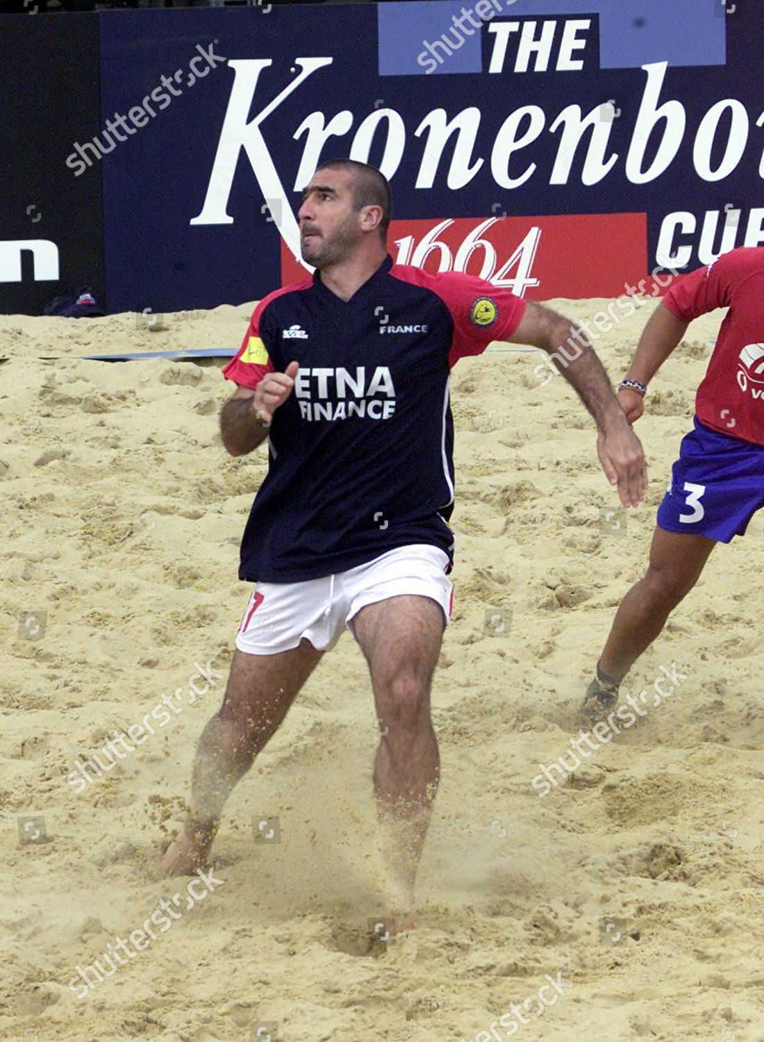 Find the perfect french eric cantona stock photos and editorial news pictures from getty images. Eric Cantona Plays France Kronenbourg Cup Beach Editorial Stock Photo Stock Image Shutterstock
