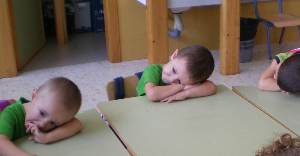 Una pausa en clase