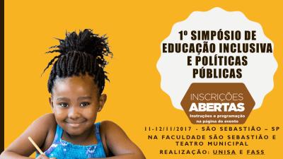 São Sebastião recebe 1º Simpósio de Educação Inclusiva e Políticas Públicas