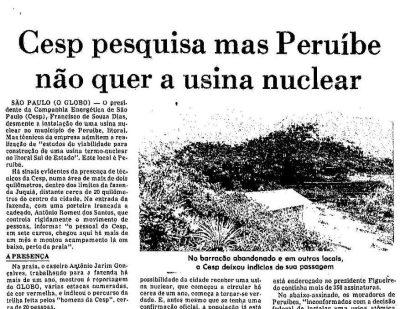"""Artigo usina parte 1: Juréia Atômica – """"do boato ao fato"""""""