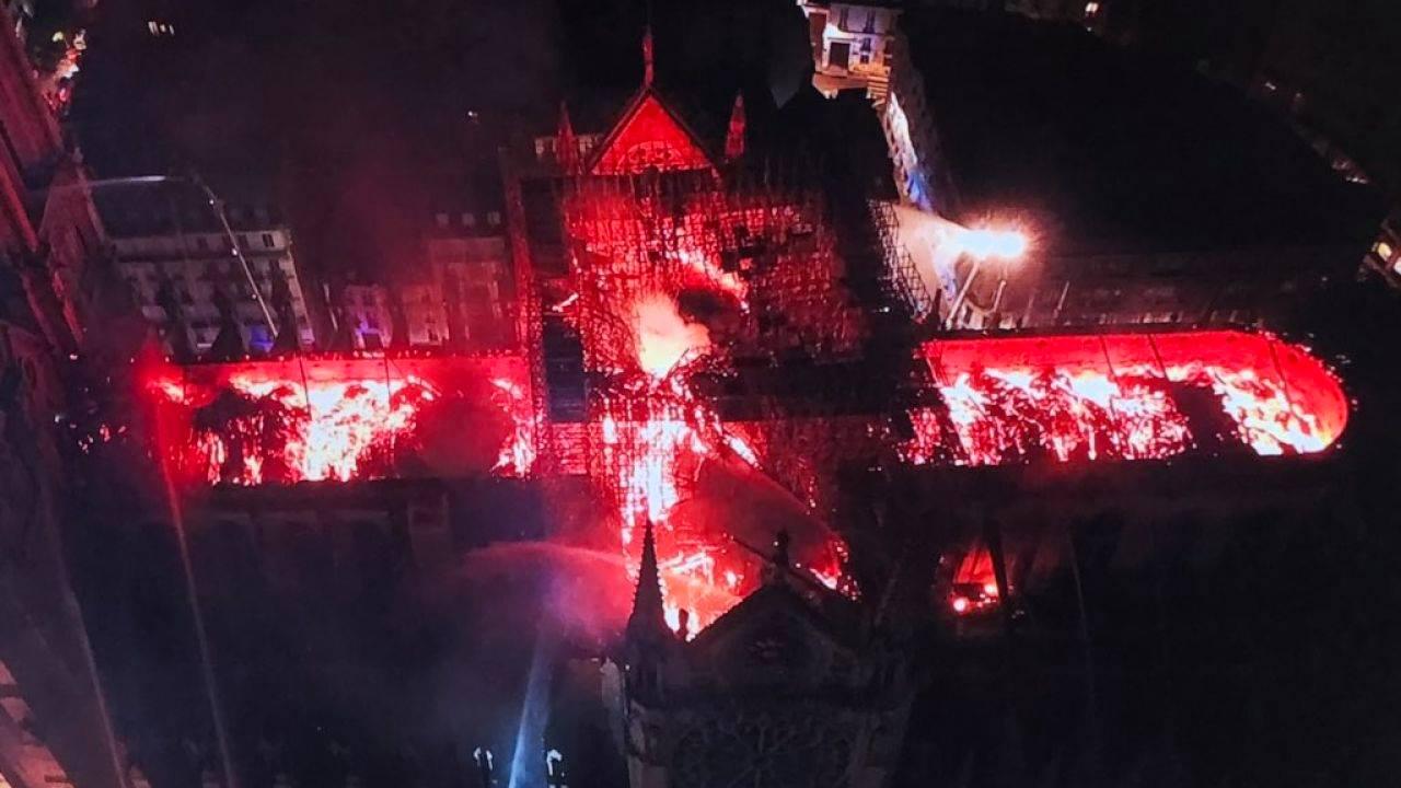 El incendio de la catedral de Notre Dame