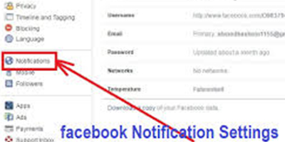 Notification Settings On Facebook Account